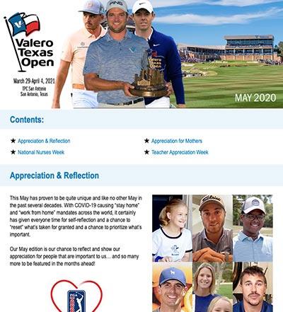 Valero Texas Open - E-Newsletter